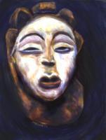 Gelede Mask S.Siobhan McElwee Wax Pastel on Paper 11x17 1996
