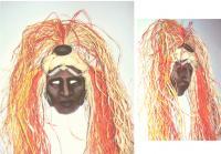 Nanahuatzin Mask S. Siobhan McElwee  Mixed Media 2000