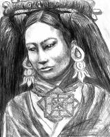 Tibet  S.Siobhan McElwee Graphite on Paper 8x10 2000